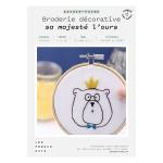 Kit savoir-faire Broderie décorative sa majesté l'ours