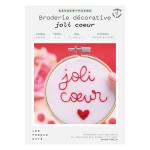 Kit savoir-faire Broderie décorative joli cœur