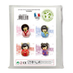 Mini Moule - Kokeshi - Lot de 4