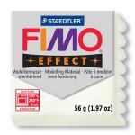 Pâte polymère Fimo Effect 56g - 08 - Blanc Métal