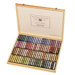 Coffret en bois Garni de 100 pastels à l'écu palette figure