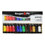 Peinture acrylique 21 ml Boite de 12 tubes