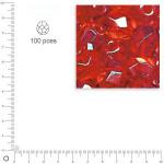 Facettes dépolies - Rubis - 3 mm x 100 pces