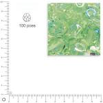 Facettes dépolies - Jaspe - 3 mm x 100 pces
