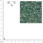 Miyuki Delicas 10/0 transparent rainbow - Aigue-marine DBM0084 - 9 g