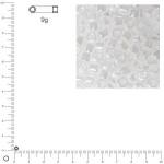 Miyuki Delicas 10/0 éclat de perle - Blanc albâtre DBM0231 - 9 g