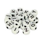Perles alphabet noir et blanc 7 mm x 300 pcs