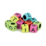 Perles alphabet multicolore 6 mm x 300 pcs