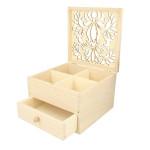 Boîte à bijoux en bois 16 x 16 x 10 cm