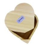 Boite cœur en bois - 15 x 14 cm