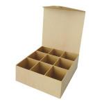 Boîte 9 cases + fermeture aimantée en papier mâché