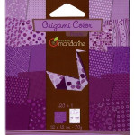 Pochette Origami Color - 12 x 12 cm -  Violet
