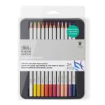 Crayon de couleur Studio Aquarellable Boîte métal de 24