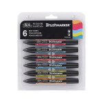 Marqueur Brushmarker 6 tons Moyens