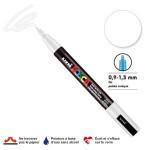 Marqueur PC-3M pointe conique fine - Blanc