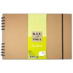 Carnet Sketchbook Papier blanc 128 g/m² 80 pages à l'italienne