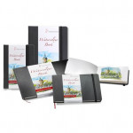 Livre de papier aquarelle Watercolour Book 200 g/m² - 30 pages Paysage - 14,8 x 21 cm (A5)
