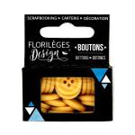 Boutons - 1,5 cm - ambre