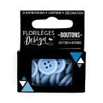 Boutons - 1,5 cm - bleu acier
