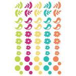 Stickers époxy Un dimanche à la campagne 60 pcs
