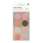 Stickers en papier Washi ronds fluo x 4 planches