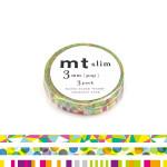 Rubans décoratifs adhésifs fins - Motifs Pop - 0,3 mm - Set de 3