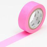 Masking tape uni rose fluo