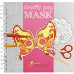 Cahier coloriage masques Graffy Pop Venezia