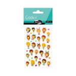 Stickers 3D Cooky Kawai poupées