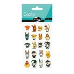 Stickers 3D Cooky thème animaux de la ferme