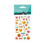 Stickers 3D Cooky Kawai bonbons