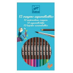 Crayons aquarellables assortiment de 12 couleurs classiques