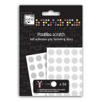 Pastilles adhésives Scratch 1 cm x 36 pcs