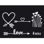 Dies Sweety Cuts - Direction Love - 4 pcs
