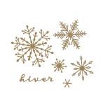Die Set Hiver floconné - 6 pcs