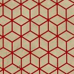 Papier Lokta Imprimé 50 x 75 cm Lin motif Bain-douches rouge