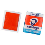 Peinture aquarelle fine demi-godet - 266 Orange permanent *** T