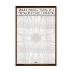 Papier calque satin 90 g/m² Bloc de 50 feuilles croquis échelle