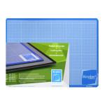 Plaque de coupe noire et bleue 22 x 30 cm