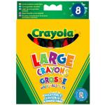 Crayons à la cire 1er âge pochette de 8
