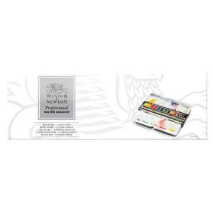 Aquarelle extra-fine Boite métal Black Box 12 demi-godets