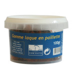 GOMME LAQUE PAILLETTE BRUNE 100G