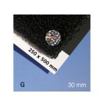 Mousse pour végétation noire alvéole 30 mm