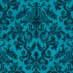 Papier Lokta Imprimé 50 x 75 cm Bleu motif Lord bleu foncé