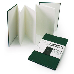 Carnet accordéon USKbook Papier grain torchon 300 g/m²
