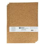 Plaque de liège grain fin 30 x 40 cm ep. 2 mm - 3 pcs