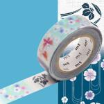 Masking Tape ex Yukata papillons et fleurs 15 mm x 10 m