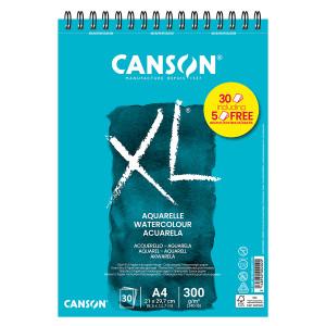 Bloc de papier XL Aquarelle grain fin 300 g/m² - 29,7 x 42 cm (A3)