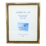 Cadre vitrine Carla Noir/Bronze Or + Passe-partout - 30 x 30 cm