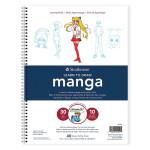Carnet de dessin avec instructions pour le Manga